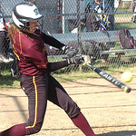 Avon Lake's #16 Annie Wennerberg gets a hit.