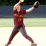 Avon Lake's starting pitcher #16 Annie Wennerberg.