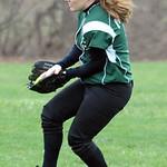 EC Tricia Gauntner makes a catch Apr. 14.  Steve Manheim