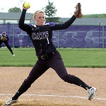 Keystone's starting pitcher #1 Emily Cornish. (CT photo by Linda Murphy.)