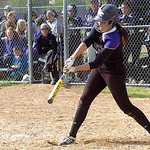 Keystone's #23 Carleigh Herrington gets a hit. (CT photo by Linda Murphy.)