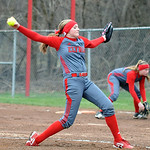 Elyria pitcher Caitlyn Minney in Game 1.  Steve Manheim