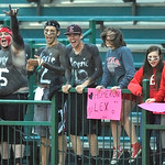 Elyria's fans cheer on the Lady Pioneers against Mason. DAVID RICHARD / CHRONICLE
