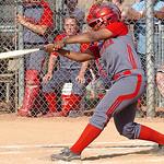 Elyria's #4 Alexis Roseboro hits a double.