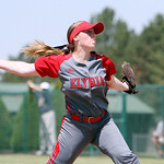ANNA NORRIS/CHRONICLE Elyria's Elizabeth Ellis winds up to pitch against Brecksville in the first inning of the Division I Regional 2 championship game at Clyde High School Saturday afternoo …