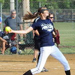Blue All Star pitcher Dagmar Smith June 11.  Steve Manheim