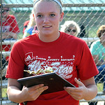 Caitlyn Minney  of Elyria wins Miss Softball award June 11.  Steve Manheim