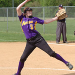 Avon's starting pitcher #5 Rachael Poling.