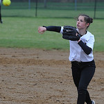 Amherst's Madison Cruzado makes a throw. STEVE MANHEIM/CHRONICLE
