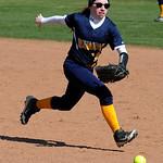 North RIdgeville's Megan Hokanson runs toward a ground ball. STEVE MANHEIM/CHRONICLE