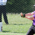 Avon's Alexis Dill gets a hit against Elyria in the sectional final game. ANNA NORRIS/CHRONICLE