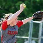 Elyria pitcher Elizabeth Ellis winds up to pitch against Avon in the seventh inning. ANNA NORRIS/CHRONICLE