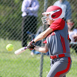 Elyria's Alex Dick connects for a base hit against Avon in the sixth inning. ANNA NORRIS/CHRONICLE