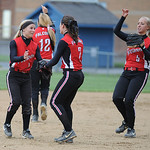 Firelands celebrates an out against Clearview. KRISTIN BAUER | CHRONICLE