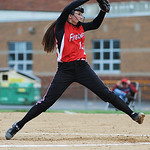 Firelands' Emma Ranney pitches against Clearview. KRISTIN BAUER | CHRONICLE