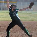 Riley St. Marie pitches for Elyria Catholic.