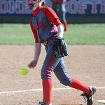 Elyria pitcher Carly Bachna pitches against St. Joseph Academy. KRISTIN BAUER/CHRONICLE