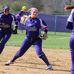 Keystone's third baseman Destiny Weber makes a play. CHRISTY LEGEZA/CHRONICLE