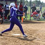 Keystone pitcher Lauren Shaw connects for a hit. CHRISTY LEGEZA/CHRONICLE