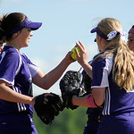 Keystone infielders high five one another before taking on Buckeye. KRISTIN BAUER | CHRONICLE
