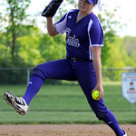 Keystone's Lauren Shaw pitches against Buckeye. KRISTIN BAUER | CHRONICLE