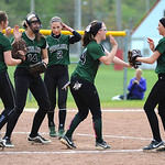 Westlake celebrates a double play against Vermilion. KRISTIN BAUER | CHRONICLE