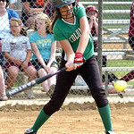 Columbia's #1 Kailey Minarchick gets a hit.