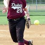 Wellington pitcher #28 Olivia Wulfhoop.