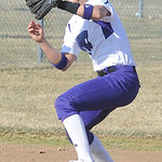 Keystone Summer Constable makes a put out grab in second inning Apr. 1.  Steve Manheim