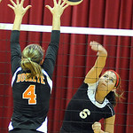 Brookside Morgan Brinkman hits past Buckeye Katie Galaszewski Sep. 13.  Steve Manheim