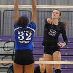 Keystone's Jenna Quillen hits over Clearview's Kelly Warren.  Steve Manheim
