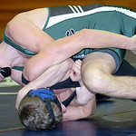 EC's Mason Harsar works on Midview's Austin Lowe.