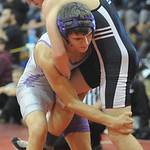 Keystone's Jagger Owca, left, loses to Normandy's Austin Haroch. STEVE MANHEIM/CHRONICLE