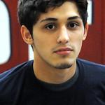Lorain wrestler Eli Garcia  at the practice gym on Feb. 13.  Steve Manheim