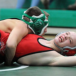 Columbia's Josh Newman defeats Fairview's Evan Feldt in the 113 weight class. STEVE MANHEIM/CHRONICLE
