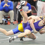 Vermilion's Mike Repko, front, is taken down by Clyde's Blake Miller. DAVID RICHARD / CHRONICLE