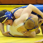 Midview's Josh Gabor defeats Vermilion's Tyler Anderson in the 126-weight class. STEVE MANHEIM/CHRONICLE