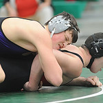 Keystone Jacob Worthington defeats Brookside Christian Quilles in 160 wt. class at  Columbia Jan. 5.  Steve Manheim