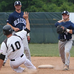 Lorain County's Tyler Bires slides into second. AMANDA RUNDLE/CHRONICLE