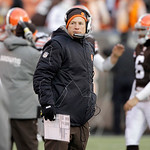 Cleveland Browns head coach Eric Mangini watches from the sidelines during the teams 41-9 loss to the Pittsburgh Steelers in their NFL football game on Sunday, Jan. 2, 2011, in Cleveland.  I …