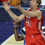 West All-Star Dirk Nowitzki of the Dallas Mavericks goes up for a basket during the NBA All-Star basketball game Sunday, Feb. 14, 2010, at Cowboys Stadium in Arlington, Texas. (AP Photo/Tony …