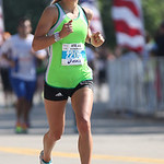 Cortney Staruch of Hinckley approaches her fifth place finish at the Cleveland Rite Aid Marathon. photo by Ray Riedel
