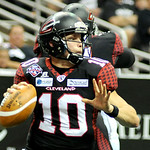 Gladiators' quarterback Shane Austin looks to pass. KRISTIN BAUER | CHRONICLE