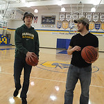 Ryan Vargo, left, and Chad Anderson will be involved in an all-star game, a 3-point contest, a dunk contest, etc., featuring Clearview athletes and coaches this Friday,   here at the Clearvi …