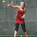 Erin Hrivnak of Avon Lake in singles at Division I district tournament at Oberlin College Oct. 10.  Steve Manheim