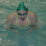 Shelby Snow of EC is proficient at the breaststroke and a top area swimmer.