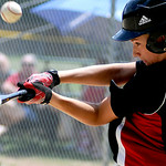 Elyria's Kyle Dull bats against Vermilion. KRISTIN BAUER | CHRONICLE