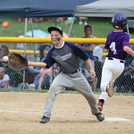 Keystone's Seth Cogar is safe at first in extra innings. RAY RIEDEL/CHRONICLE