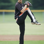 Dudley Taw winds up for a pitch. RAY RIEDEL/CHRONICLE