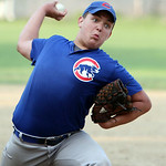 Columbia Morgan Truckers Chris Bowes pitches against the South Amherst Crushers. ANNA NORRIS/CHRONICLE